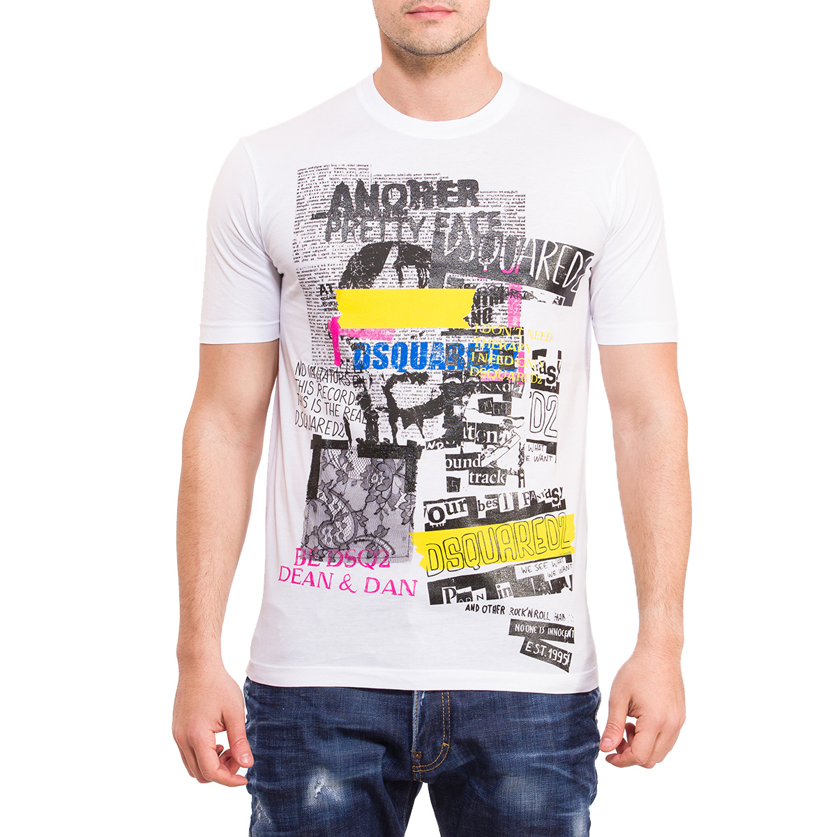 DSQUARED2 T-SHIRT STUOL FIT ΛΕΥΚΟ  34406ede560